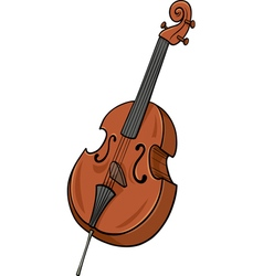 double bass cartoon clip art vector image