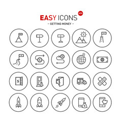 easy icons 42b gettng money vector image