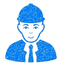 Engineer Grainy Texture Icon vector image