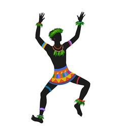 Ethnic dance hawaiian man vector image