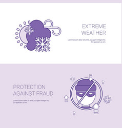 extreme weater and protection against fraud vector image