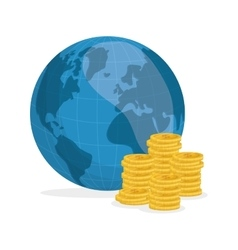 Flat about Oil price world and money vector image