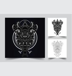 garuda wisnu kencana culture indonesian artwork il vector image