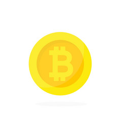 golden bitcoin icon cryptocurrency digital money vector image