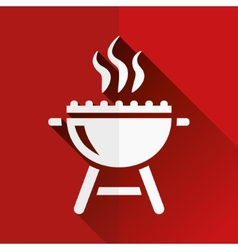 Grill flat icon vector