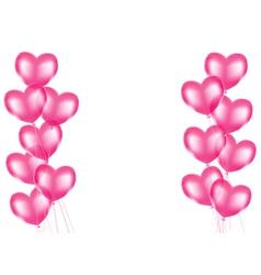 Heart balloons background vector