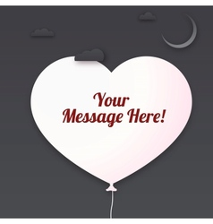 Heart cut out of paper with place for your message vector image