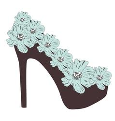 High heel rose vector