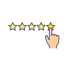 High rating color icon vector