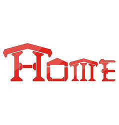 home logo design template isolate on white vector image