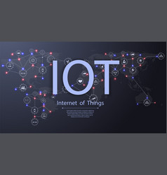 Internet of things iot connectivity concepts vector