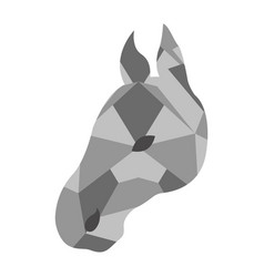 isolated low poly horse icon vector image