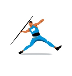 Javelin Thrower sign vector