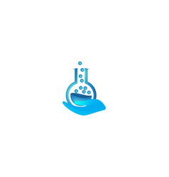 lab care logo inspiration isolated on white vector image