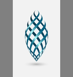 Logo abstract shape wave blue color vector image vector image