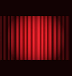 luxury scarlet red silk velvet curtains and vector image