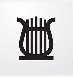 Lyre icon for web and mobile vector