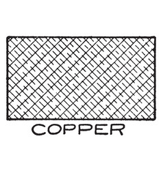 mechanical drawing cross hatching of copper vector image