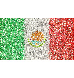 Mexico sparkling flag vector