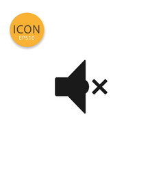 mute audio speaker icon isolated flat style vector image