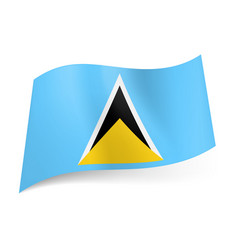 national flag of saint lucia white black and vector image