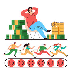 office job work boss money slavery concept vector image