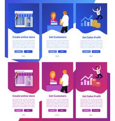 online shop app online store app vector image