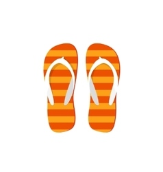 Orange flip-flops isolated vector image
