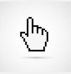 Pixel cursor icon - cursor hand vector