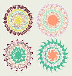 round pattern ornament vector image