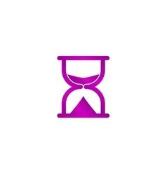 Sand clock icon vector