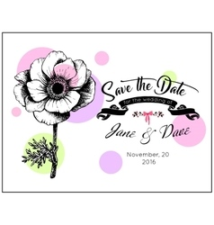 save date invitation template vector image