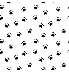 Seamless pattern with paw isolated on white vector