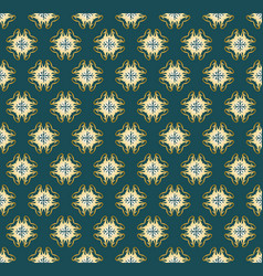 Seamless symmetrical pattern of gold pieces vector