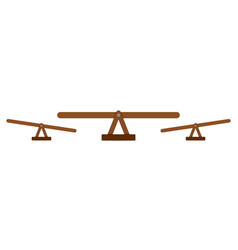 Seesaw or wooden balance scale vector