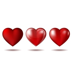 set red heart icon isolated on white vector image
