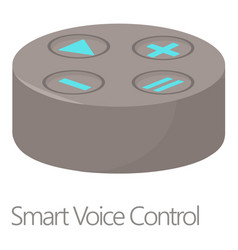 Smart voice control icon cartoon style vector
