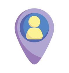 Social media pointer location avatar icon vector
