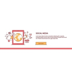 Social Media Web Page Design Flat vector