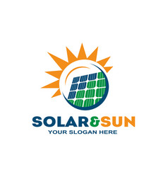 Stylish solar logo vector