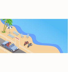 Summer road trip isometric vector