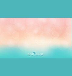 summer season time blurred bokeh blue and pink vector image