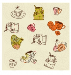 tasty cakes set vector image