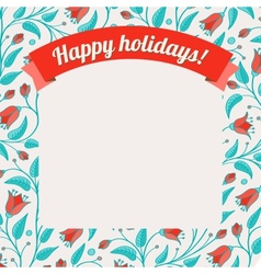 Template for greeting card or invitation vector image