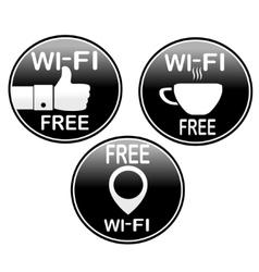 Three wi-fi icons vector