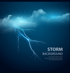 Thunderstorm Background With Cloud and Lightning vector