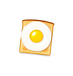 toast with egg vector image