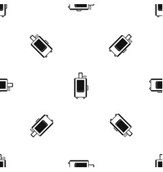 travel suitcase pattern seamless black vector image