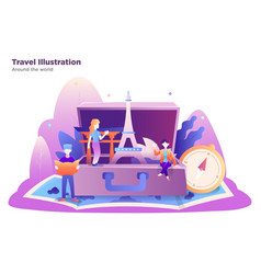travel with group people vector image