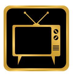 Tv button on white vector